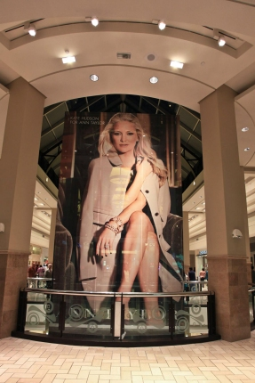 Elevator wrap promotes the new Ann Taylor Concession in New York