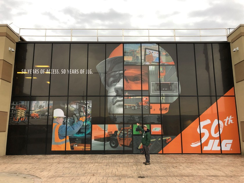 JLG Industries Contra Vision Perforated Window Film